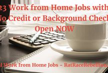 Work from Home Jobs with No Credit or Background Check