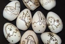 carved and lace egg