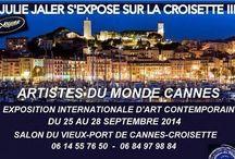 """JULIE JALER S'EXPOSE SUR LA CROISETTE A CANNES !!! / Voici un panel des toiles que je vais présenter lors de l'exposition """"LES ARTISTES DU MONDE"""". L'exposition~concours """"Des Artistes du Monde"""" sera ouverte du 25 au 28 Septembre 2014,sur la Croisette à Cannes. Cet événement international se présentera sous forme de grand concours et la Palme d'Or de la Ville de Cannes sera décernée par Madame Marina Picasso,Marraine de l'événement. Des artistes venus de tous les Pays seront présents pour exposer leur art."""
