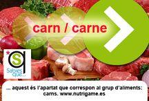 CARN / CARNE / Apartado de carnes.