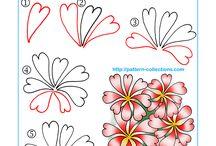 desenhos tangle