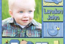Baby Scrapbook Page Layout Ideas
