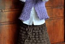 Crochet girl skirts