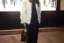 Look hiver / Faux fur white