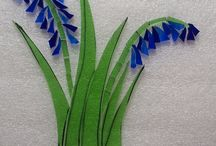 Simple Stained Glass Mosaic Bluebell Cutting Guide