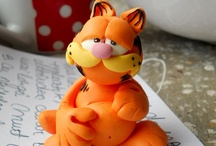 Garfield polymer clay
