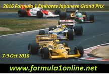 2016 F1 Japanese Grand Prix / Watch Japanese F1 Grand Prix live streaming from 7th October to 9th October 2016 ,