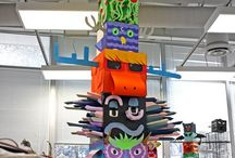 Kids Art Totem Poles