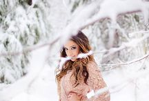Winter Wonderland / Senior shoot in the snow