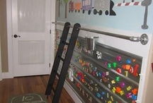 Creative paint ideas for boys bedroom / Creative paint idea with magnetic paint