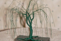 My Wire Tree Sculptures / I make these for $35.00 + shipping if anyone is interested.  If I sold the one you wanted I can make one similar - but each one is one-of-a-kind. / by Doug Stainbrook