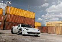 White Ferrari 458 Spider with Vellano VCZ Forged Concave