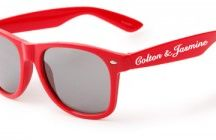 Wedding Sunglasses / Personalized Sunglasses for wedding keep-sakes ~