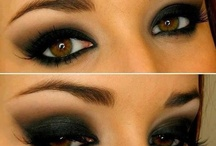 Smoky eye brown eyes