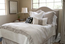 Neutral Bedrooms / Calming bedrooms that feature whites, creams, linens, grey and tan.