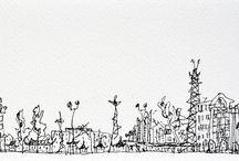 Shanghai 2011 / Dibujos para un trabajo de investigación sobre imagen y patrimonio iniciado en Shanghai en 2011