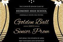 prom invitation card designe
