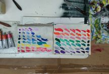 Processes / Pics of during and after in creation of my art work.