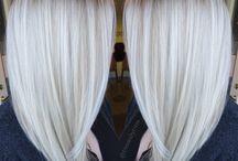 white hair platinum colour