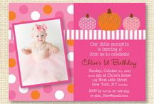 Halloween Party / These adorable invitations and decorations would be great for a Halloween or Fall themed party.
