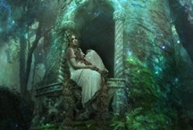Enchanted Realm. / Faeries, dragons, unicorns, moonlight, magical, mystical, stars, and other stuff of dreams.