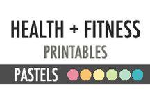 Health + Fitness Printables - DIY Planner - Pastels / Health + Fitness Printables - DIY Planner - Pastels