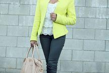 Yellow blazer outfit