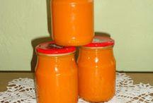 zavařování, marmelády, jamy