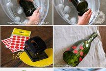 tagliare bottiglie di vetro