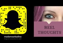 Snapchat Work / A selection of my occasional Snapchat series and characters.   Including: Reel Thoughts.