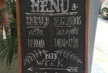 Chalkboards / Chalkboard design for the daily menu.