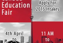 """Canada Education Fair in West Delhi / Top university delegates of Canada are partaking in the interactive and full of opportunities """"Canada Education Fair"""", 2015. Communicate with them to know more about the admission related enquiries in Canada."""