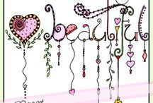 Dangles / doodles / zentangles/ Paisley enz.