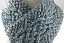 Knitting, Crocheting scarf, shawl, neckwarmer