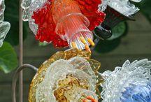 glass flowers etc