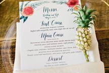 Tropical chic wedding