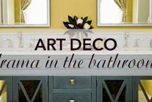 Art Deco Drama | Kitchen & Bath / After The Great Gatsby movie release in 2013, the Art Deco design style has gained extreme popularity. Art Deco is an eclectic and luxurious combination of high gloss furnishings and modern fixtures.