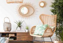 Ma chambre cosy parfaite / Nature / Et si vous dormiez dans la nature ? Dans une chambre aux tonalités naturelles vertes, blanches ou beiges, faites pousser quelques plantes vertes, ajoutez de l'osier, du rotin ou du lin et pourquoi pas aussi des matières recyclées. Et voilà, c'est le paradis vert !