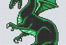 hamabeads dragon