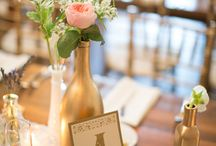 Gold-pink-green wedding