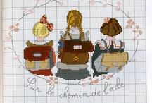 Krížiková výšivka - Deti