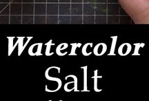 watercolor salt effects