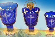 Glass Votives for Orthodox Candili / Orthodox oil votives candili or kandili