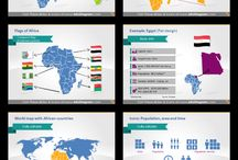 Maps for PowerPoint and not only / PowerPoint templates with editable maps.