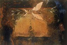 Pierre Gaste / Pierre Gaste est le peintre des chênes solitaires et des champs ordonnés, le peintre de la terre, des fleurs et des épis de blé, le peintre de la lumière dorée d'une fin d'après-midi, le peintre du crépuscule et de la nuit, le peintre de la pluie, du vent et des ciels convulsés, le peintre, enfin, des animaux, compagnons trop souvent méprisés d'une route que l'homme, oublieux des anciens équilibres, voudrait toujours plus droite.