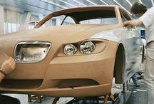 점토 모델의 자동차