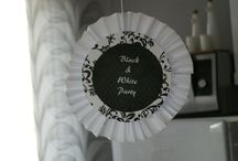 BLACK& WHITE party / black and white party decorations