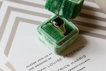 Elegant Emerald and Gold Wedding Inspiration / Accessories by The Left Bank Jewelry and Bridal Finery, Photography by Emilia Jane Featured in Style Me Pretty