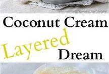 coconut cream.