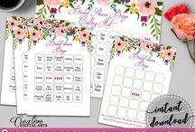 Bridal Shower Products in Watercolor Flowers Theme, Invitations, Games, Decorations And More / Hi, thank you for visiting this beautiful bridal shower board with products in Watercolor Flowers theme. Here, you'll find different invitations, games and activities, decorations and more with over 60 products in this theme.